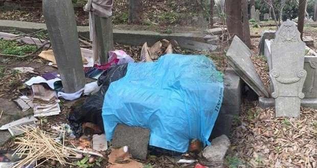 Maçka Mezarlığının durumu içler acısı!