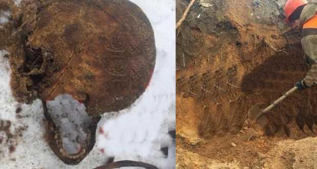 Kavşak yapımı sırasında mafya üyelerinin iskeletleri ortaya çıktı
