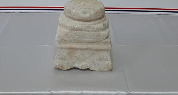 Kayseri'de 1800 yıllık tarihi sütun ele geçirildi