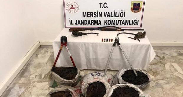 Mut'ta kablo hırsızları yakalandı