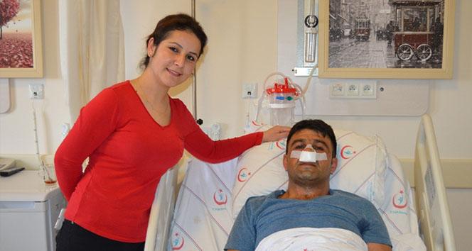 Ses kısıklığı şikayetiyle gittiği hastanede burnundan tümör çıktı