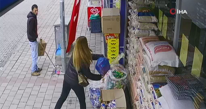 Eski erkek arkadaşına kızan genç kız, babasının marketini kundakladı