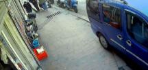 Korona virüsü bahane edip yaşlı adama kolonya uzatarak gasp eden şahıs kamerada