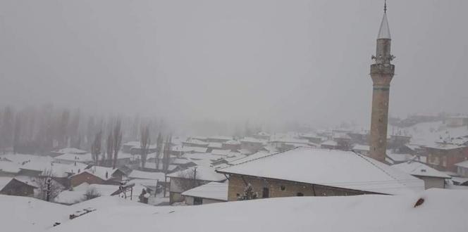 Mart ayında 10 santimetre kar