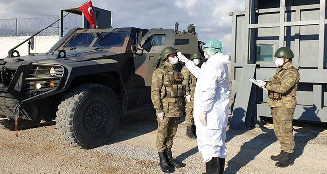 Sınır birliklerinde korona virüse karşı tedbirler alındı