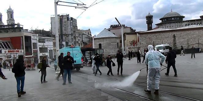 Taksim Meydanı dezenfekte edildi