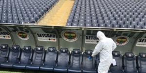 Ülker Stadyumunda korona virüse karşı dezenfekte çalışması