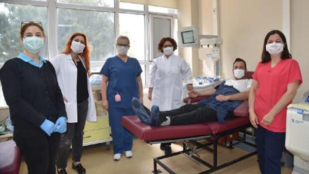 Balcalı'da ilk immün plazma bağışı yapıldı
