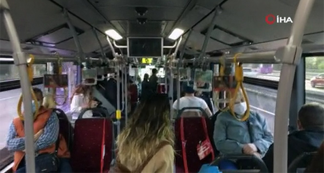 Kontrollü sosyal hayatın ilk gününde metrobüslerde yoğunluk