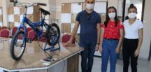 Bisiklet kullanımını teşvik etmek için hazırladıkları projeyle ödül aldı