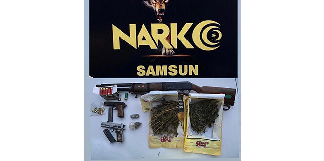 Narkotik uygulamasında silah ve uyuşturucu ele geçti