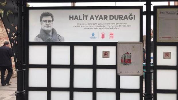 Halit Ayar'ın adı Tünel tramvay durağına verildi