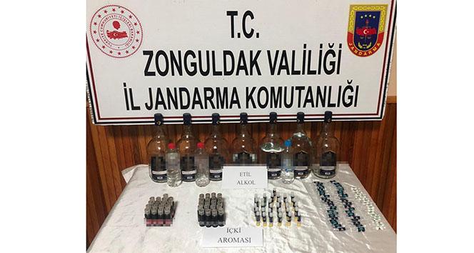 Zonguldak'ta izinsiz etil alkol satan şüpheli gözaltında