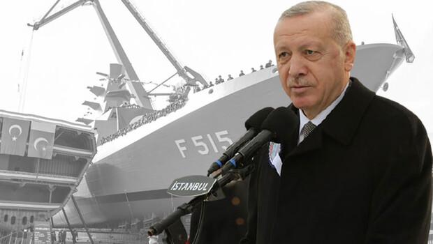 İlk milli fırkateyn suya indirildi… Cumhurbaşkanı Erdoğan'dan flaş açıklamalar