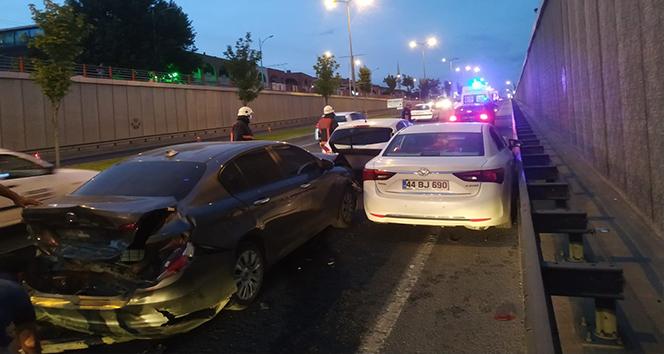 Malatya'da zincirleme kaza: 2 yaralı