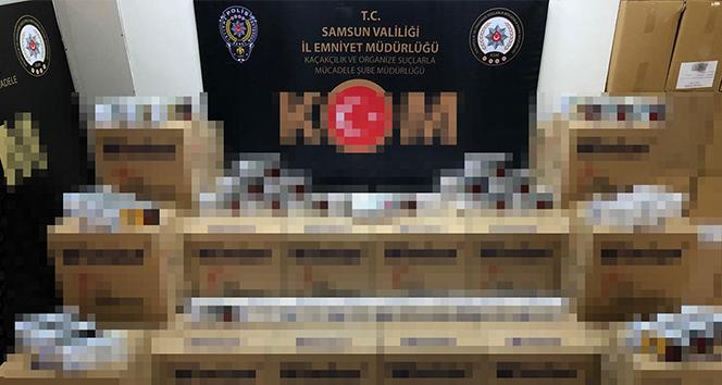 Samsun'da 300 bin dal kaçak makaron ele geçirildi