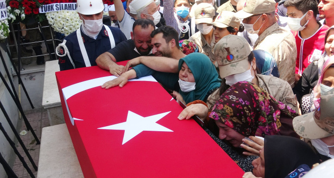 Şırnak'ta şehit olan uzman çavuş Hatay'da toprağa verildi