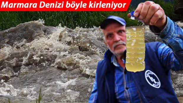 Son dakika: Marmara Denizi böyle kirleniyor! Bursa'da korkutan görüntü… Katran gibi