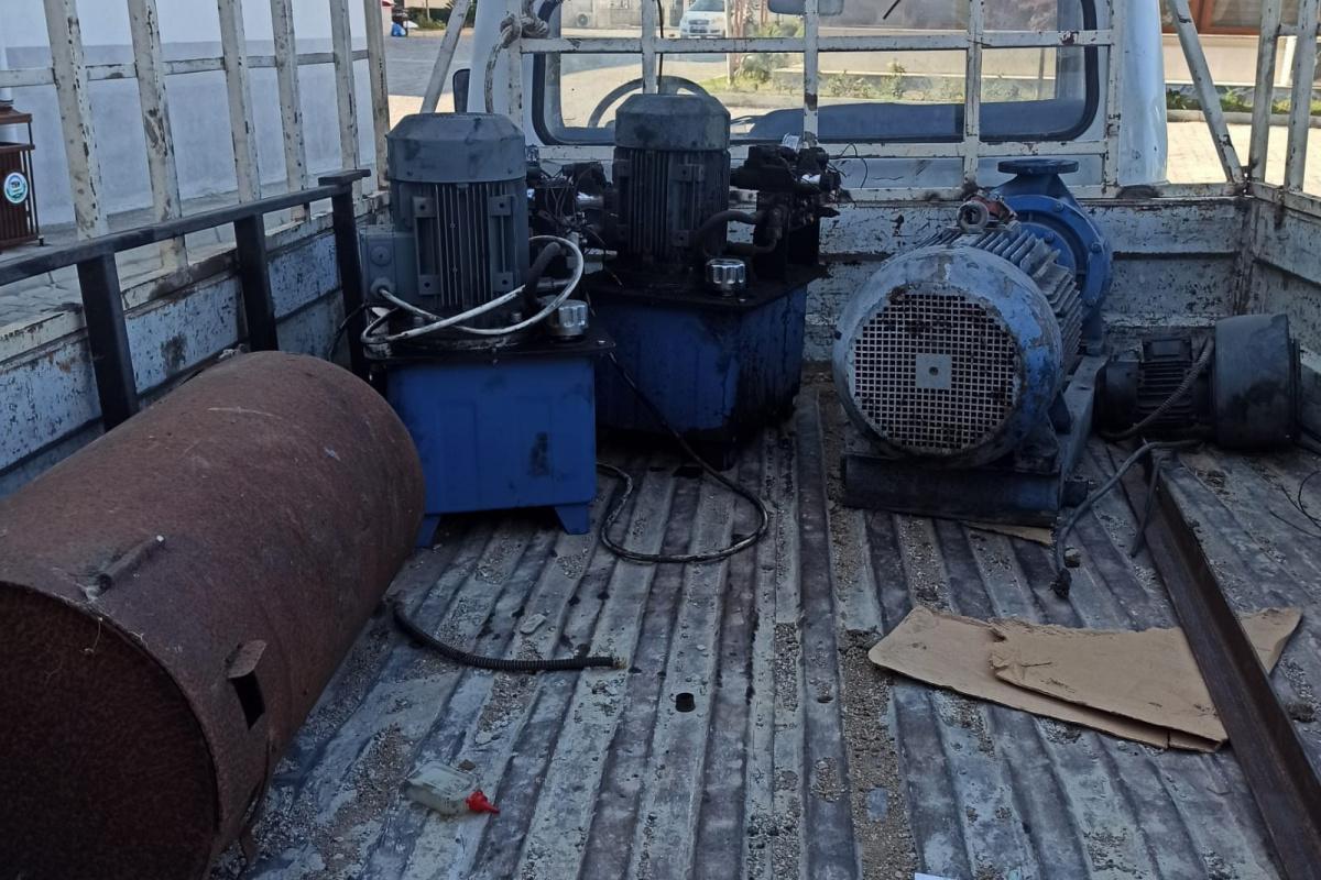 40 bin TL değerinde su dinamosu çalan 5 şüpheli gözaltına alındı