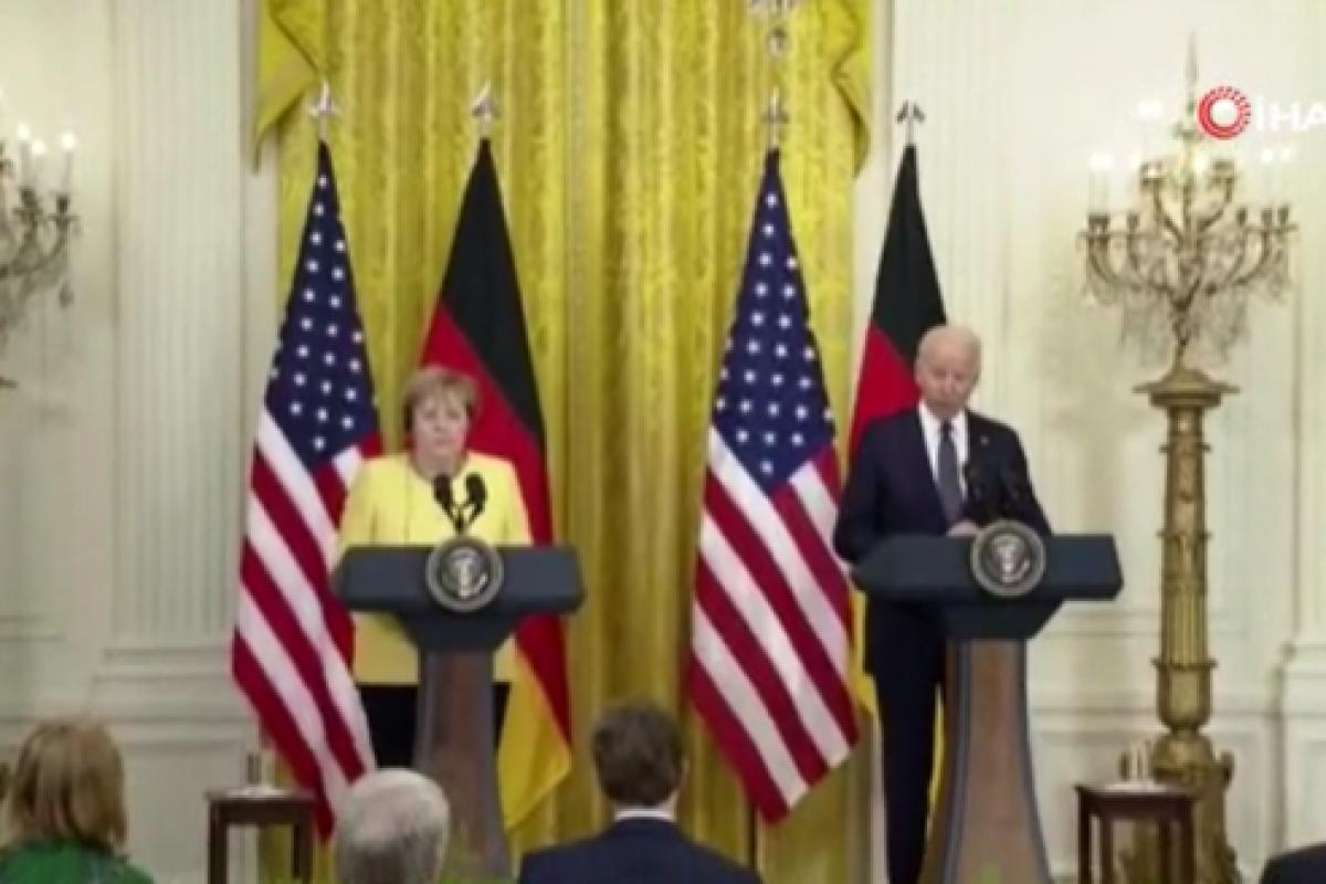ABD Başkanı Biden, Almanya Başbakanı Angela Merkel ile görüştü