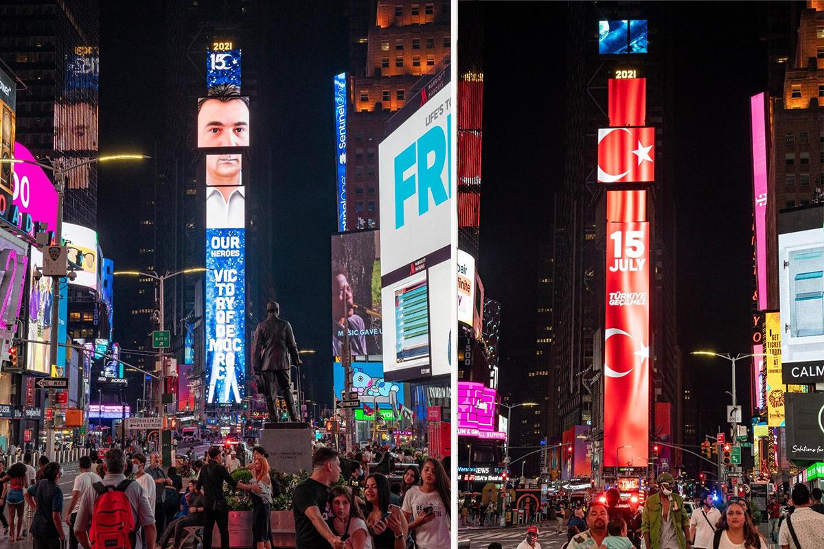 ABD'de 15 Temmuz darbe girişimi Times Meydanı'nda anlatıldı