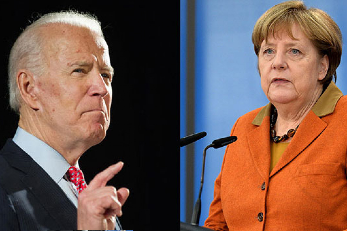 Biden, Merkel'i Beyaz Saray'da ağırlayacak