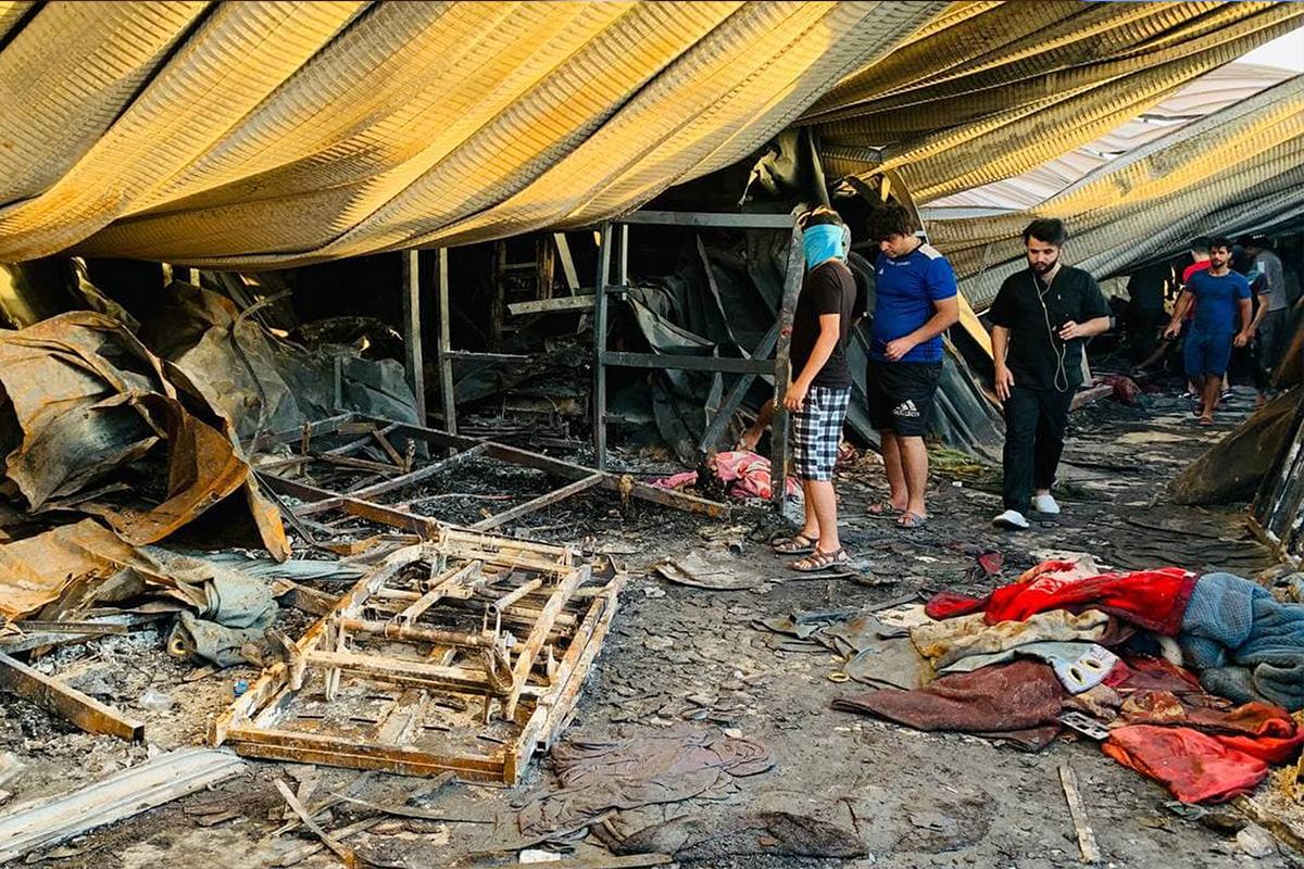 Irak'taki hastane yangınında can kaybı 92'ye yükseldi