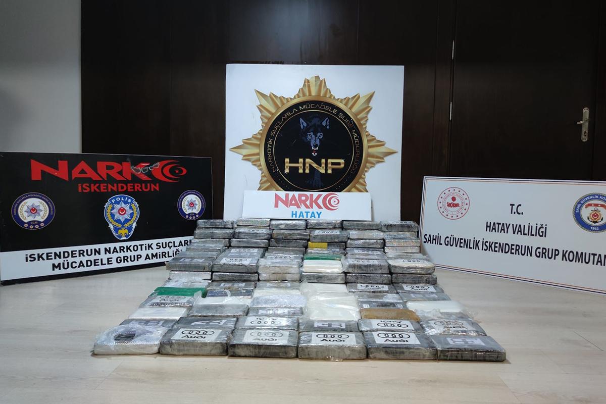 İskenderun Körfezi'nde bir gemide 176,6 kilogram kokain ele geçirildi