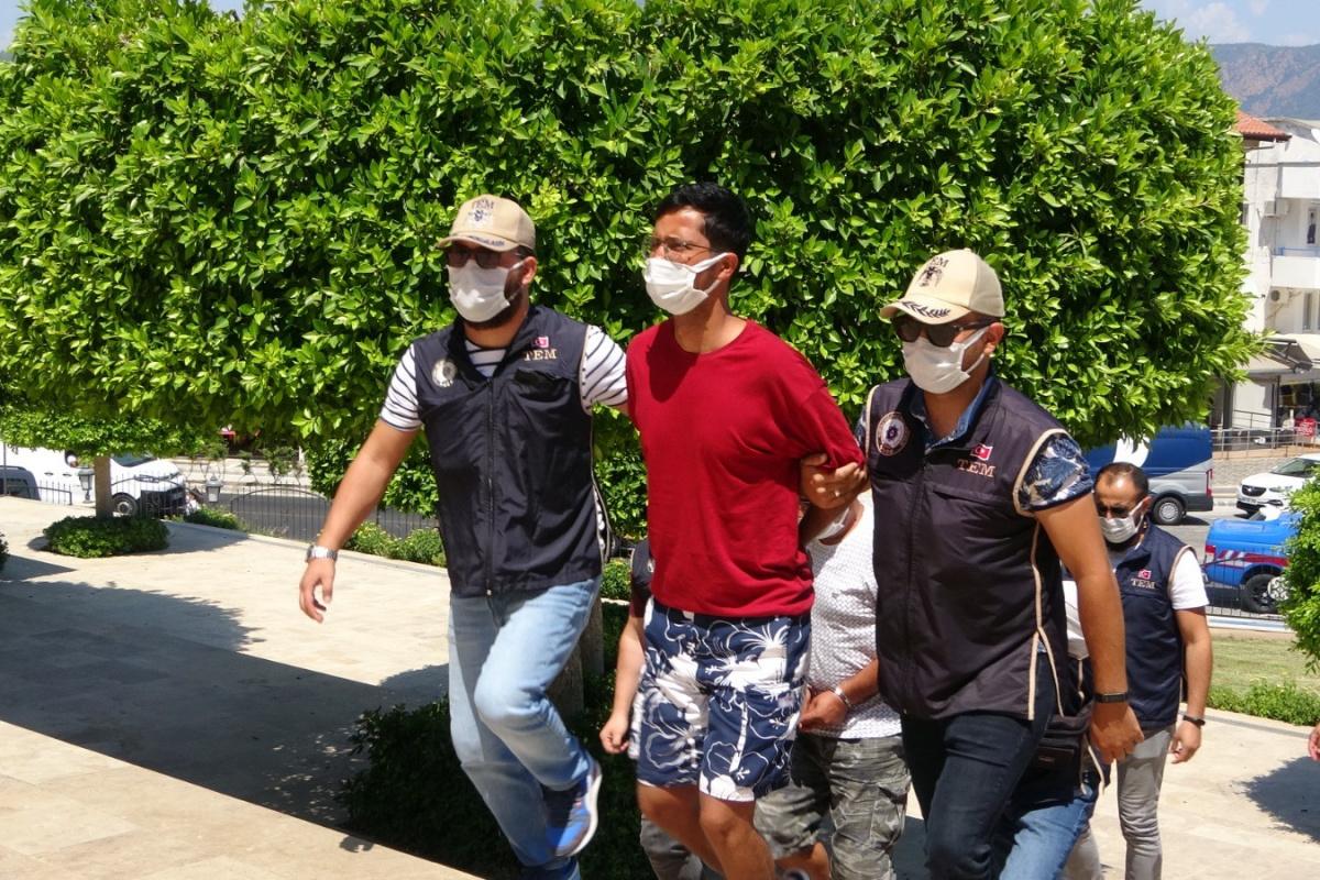 Üç ilde bombalı eylemlere karışan terör örgütü üyesi Marmaris'te yakalandı