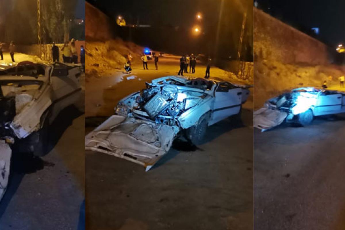 Van'da otomobil 8 metre yükseklikteki köprüden uçtu: 1 ölü, 2 yaralı